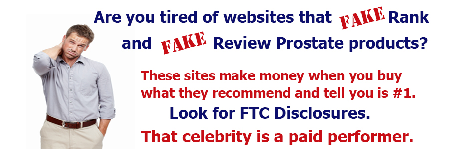 Fake Prostate Product Rankings and Reviews